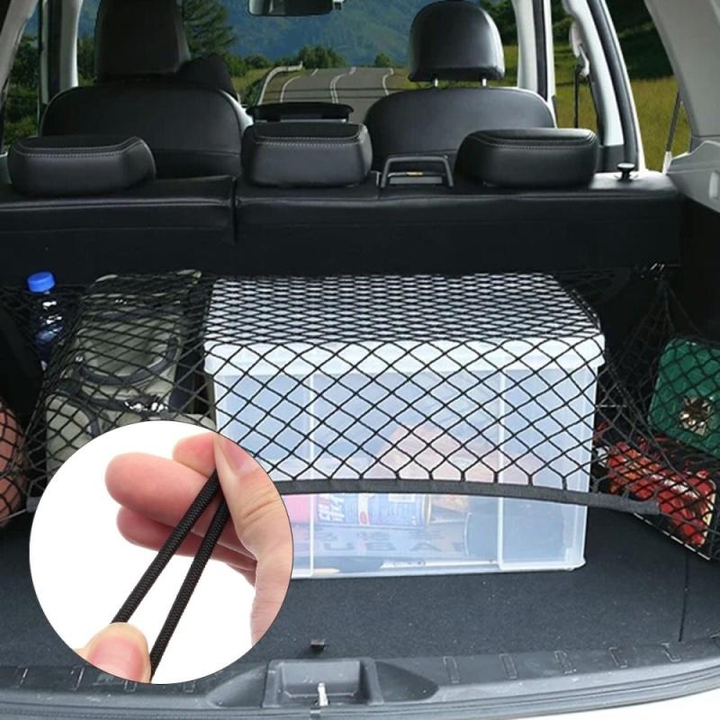 Car Trunk Rear Cargo Organizer Storage Net Elastic Pouch String Mesh - intl