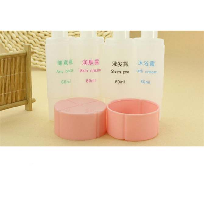 Catwalk 45ML Travel Cosmetics 4 in 1 Set Bottles Shampoo Shower Gel Storage Laundry Bag Empty