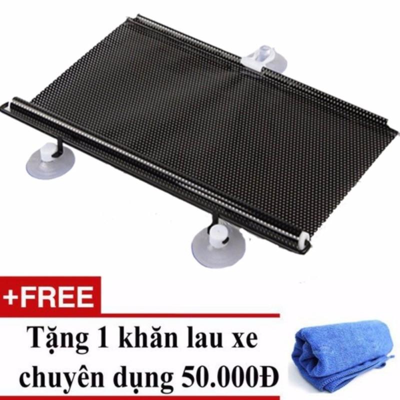 Che nắng cuộn phản quang chống nóng kính bên gọn gàng tiện ích cho ô tô, xe hơi 40x60 cm + Tặng 01 khăn lau xe chuyên dụng
