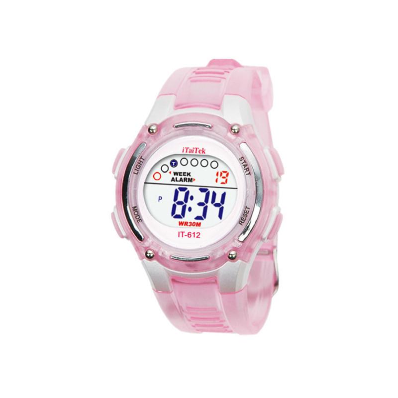 Đồng hồ đeo tây chuồn nước kỹ thuật số dành cho bơi lội of trẻ em màu hồng bán chạy