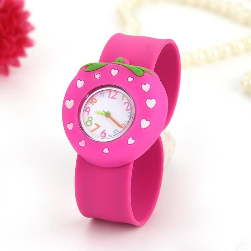 Children Digital Watches Funny Cartoon Character for Girls (strawberry 1) - intl bán chạy