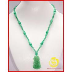 Chuỗi đeo cổ đá Cẩm thạch kèm Phật Bà Quan Âm màu lý Trang sức đá Longgem