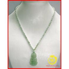 Chuỗi đeo cổ ngọc Cẩm Thạch 4mm hình hạt gạo kèm Phật bà quan âm Trang sức đá Longgem