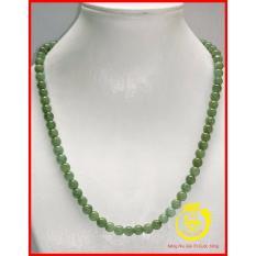 Chuỗi đeo cổ Ngọc Cẩm thạch 6mm Trang sức đá Longgem