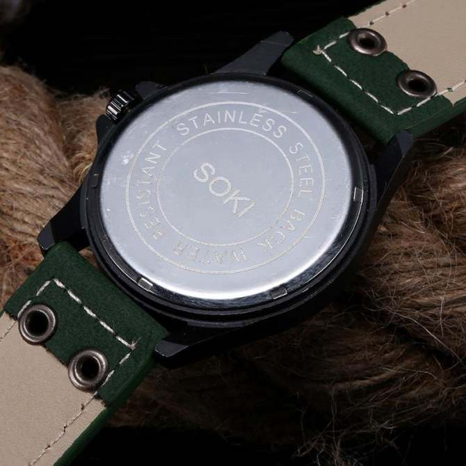 ... intl; coconie Vintage Classic Men's Waterproof Date Leather Strap Sport Quartz Army Watch - ...