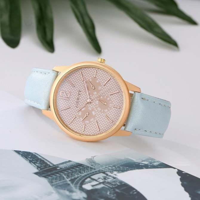 coconie Women Fashion Leather Band Analog Quartz Round Wrist Watch Watches - intl ...