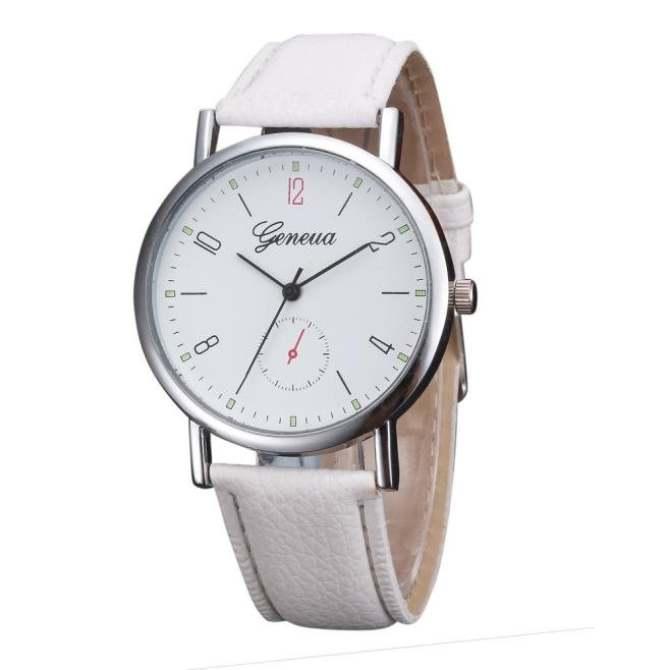 ... Coconie Womens Retro Design Leather Band Analog Alloy Quartz Wrist Watch White Free Shipping intl