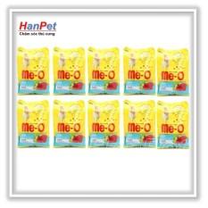 Hot Deal Khi Mua Hanapet-Combo 10 Gói ME-O 350gr - Thức ăn Dạng Hạt Cho Mèo Lớn Vị CÁ NGỪ ( 201d)