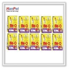 Coupon Khuyến Mãi Hanapet-Combo 10 Gói Thức ăn Dạng Hạt Mèo Lớn ME-O 350gr (vị Hải Sản)  201g