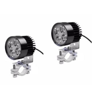 Combo 2 đèn pha trợ sáng 4 LED siêu sáng dành cho xe mô tô(Đen) ,thiết bị phụ kiện oto,xe máy thumbnail