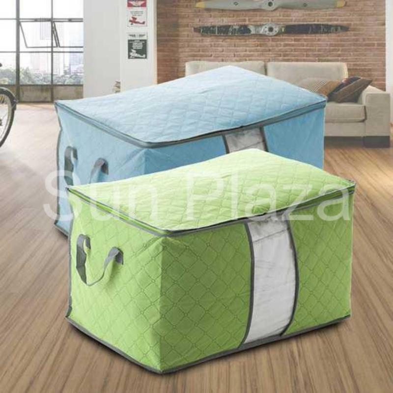 Combo 2 túi đựng quần áo đa năng tiện dụng loại lớn nằm ngang  Túi đựng chăn màn quần áo  Sun Plaza