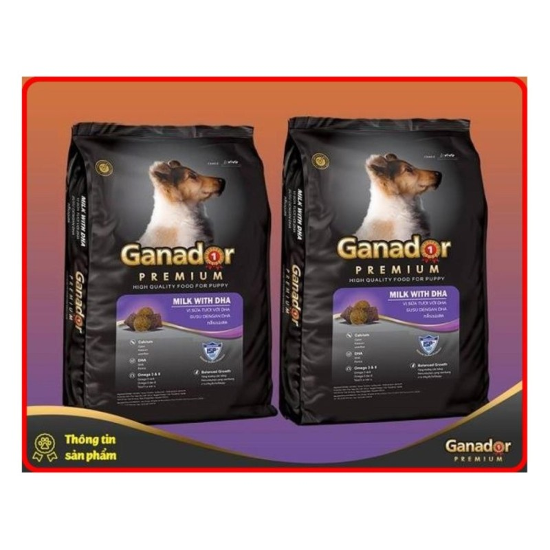 Combo 2 túi thức ăn hạt cao cấp Ganador Puppy 400gr/ túi