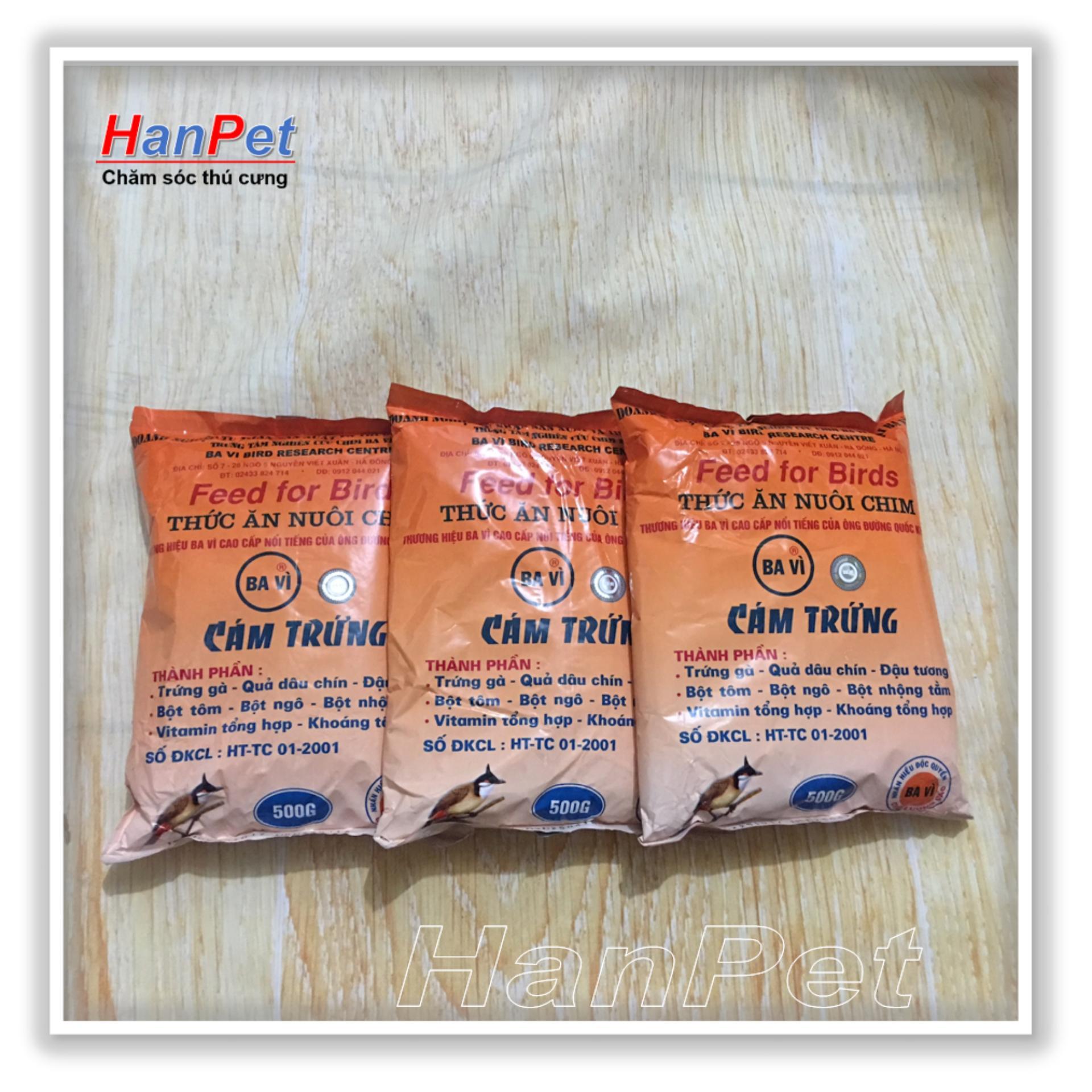 HCM -Combo 3 gói Thức ăn cho chim(Cám trứng BAVI - 500gr) (hanpet 214)-HP10405TC