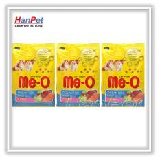 HN-COMBO 3 Gói Thức ăn Dạng Hạt  Mèo Con ME-O Kitten 1,1kg Vị Cá Biển (hanpet 204d) Giá Cực Cool