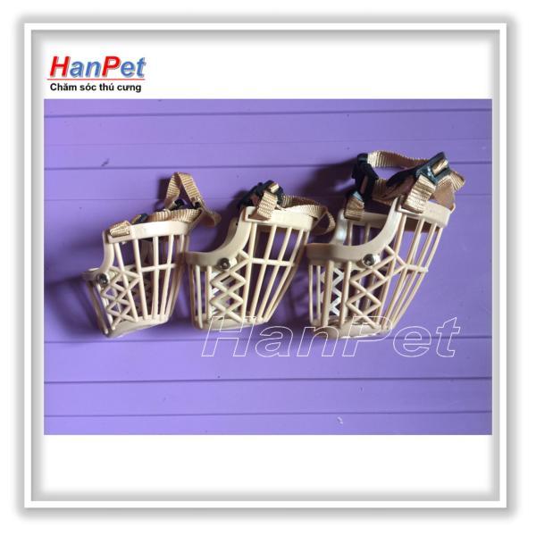 HCM-Combo 3 Rọ mõm chó bằng nhựa - 3 size khác nhau cho chó từ 3 -15kg ( 606d)-HP10468TC