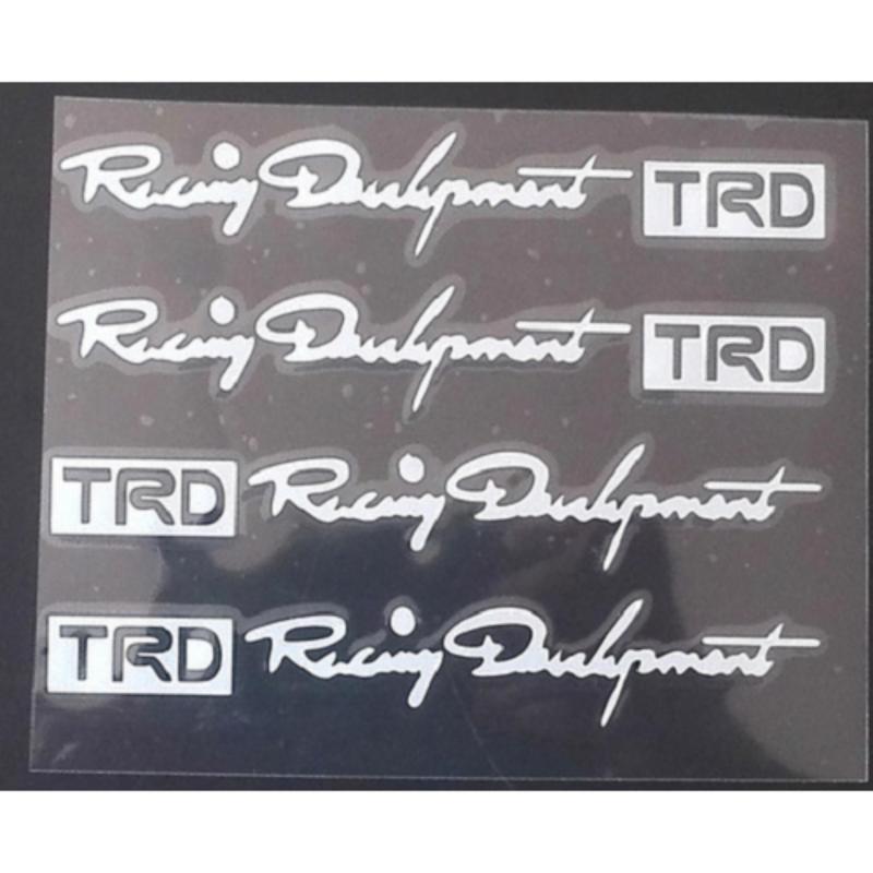 Combo 4 decan dán nắm cửa Racing TRD phong cách thể thao TH015 (Trắng)