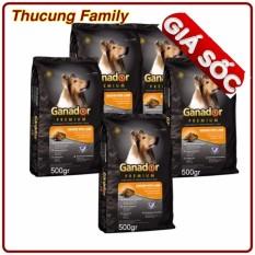 Combo 5 Bao ThỨc Ăn Cho ChÓ Ganador Adult 500gr /bao By Thú Cưng Family.