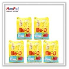 Combo 5 gói ME-O 350gr - Thức ăn dạng hạt cho mèo lớn vị CÁ NGỪ (hanampet 201c) Nhật Bản