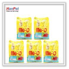 Combo 5 gói ME-O 350gr - Thức ăn dạng hạt cho mèo lớn vị CÁ NGỪ (hanpet 201c)