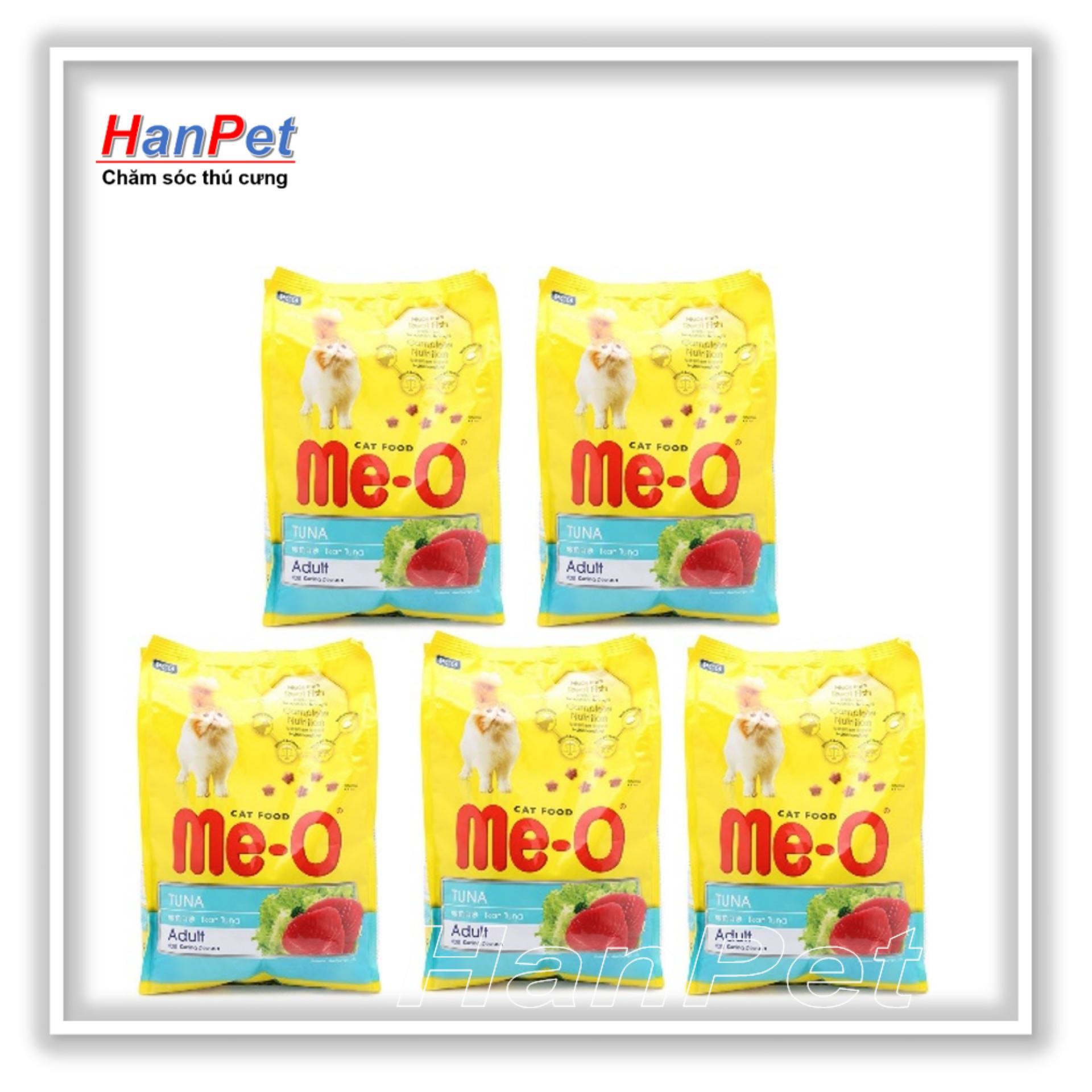 Coupon Khuyến Mại HN-Combo 5 Gói ME-O 350gr - Thức ăn Dạng Hạt Cho Mèo Lớn Vị CÁ NGỪ & HẢI SẢN (hanpet 201c)