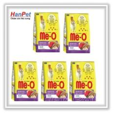 Offer Ưu Đãi Hanapet-COMBO 5 Gói (mỗi Gói 350gr) Thức ăn Dạng Hạt Cho Mèo Lớn ME-O 350gr (vị Hải Sản & Cá Ngừ)  201e