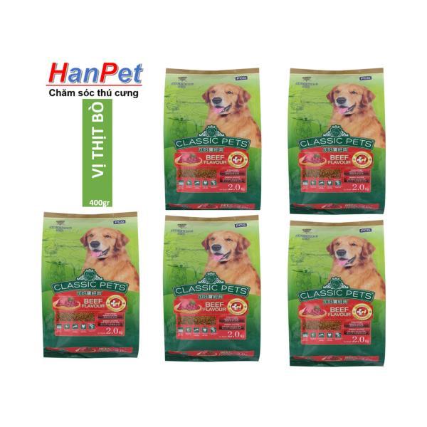 HCM  (COMBO 5 gói mỗi gói 400gr)Thức ăn CLASSIC PETS (thức ăn khô cho mọi loại chó trên 10kg) THỨC ĂN CHUỘT HAMSTER-HP10313TC