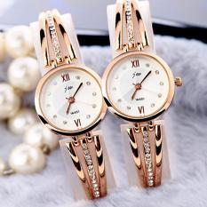 Combo bộ 2 đồng hồ nữ dây kim loại thời trang (Trắng)