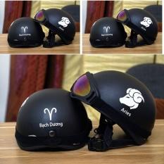 Bán Combo Mũ Bảo Hiểm Phượt Nửa Đầu Cung Bạch Dương Va Kinh Uv Oem Trực Tuyến