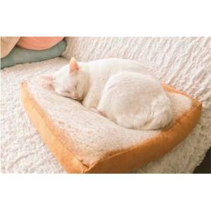 Hình ảnh Creative Toast Bread Cat Dog Lounger Bed Kennel Mat Soft Fiber Pet Small Dog Puppy Warm Soft Bed House Product For Dog Cat Beds - intl