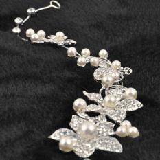 Crystal New Beauty Pearl Flower Party Bridal Headband Tiara Headwear Silver (Intl)