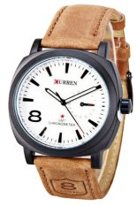 Curren Men S Brown Leather Strap Watch Trong Bình Dương