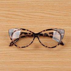 Ôn Tập Tốt Nhất Cyber Women Lady Cat Eye Shape Plastic Plain Glasses Spectacle Brown