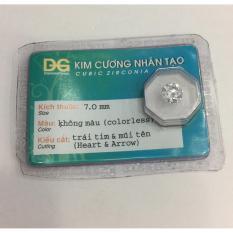 Đá kim cương nhân tạo hàng được kiểm định (7 li)