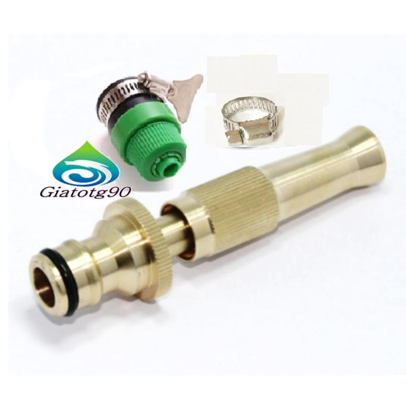 Đầu vòi bơm đồng xịt thẳng, chỉnh nhiều chế độ rửa xe, tưới cây tiện ích 206587
