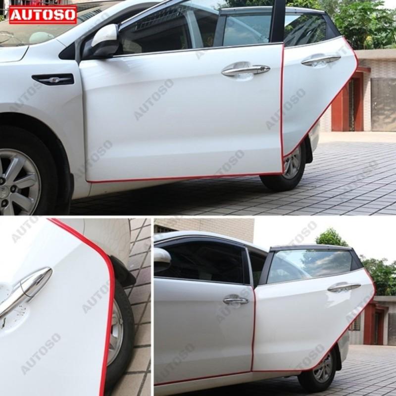 Dây cao su dán cách âm, gia cố cánh cửa xe - Bộ 5m màu ĐỎ chất lượng cao cấp - AUTOSO