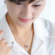 Dây chuyền nữ thời trang Khối Rubik đính đá lấp lánh HHN-XL53(Bạch Kim)