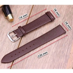 Day Da Đồng Hồ 18 Mm Da Bo Thật Genuine Leather Tạo Van Thằn Lằn Lizard Skin Oem Chiết Khấu 50