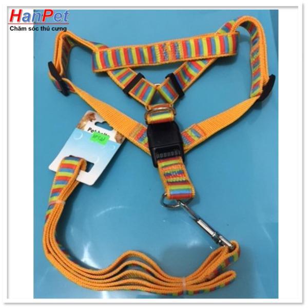 HCM-Dây dắt chó + dây yếm đai yên ngựa cho chó 14-18kg ( 348)-HP10458TC