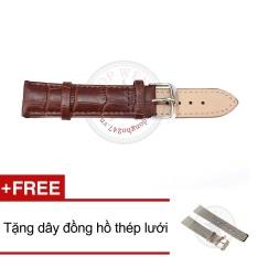 Cửa Hàng Day Đồng Hồ Da Bo Van Ca Sấu Size 20Mm Ddh7 Nau Tặng Day Đồng Hồ Thep Lưới Hồ Chí Minh