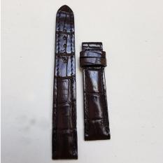 Dây đồng hồ da Cá sấu cao cấp 1 mặt (size 20mm) CS1M (Nâu cà phê) bán chạy