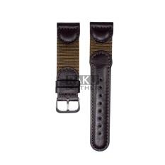 Hình ảnh Dây đồng hồ kiểu quân đội - Raku Leather - Size 20 (Nâu)