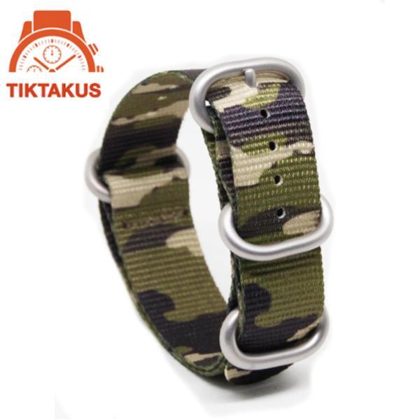 Dây nato camo quân đội 18mm - Tiktakus 01
