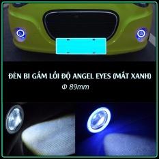 Đèn Bi Lồi Độ Angel Eyes Gầm Xe Hơi Cực Chất (Xanh - Đường kính 89mm)