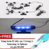 Giá Bán Đen Led Chiếu Gầm Ghế O To Xe Hơi Tặng 01 Day Sạc Điện Thoại 2 Trong 1 Cho Iphone Va Samsung