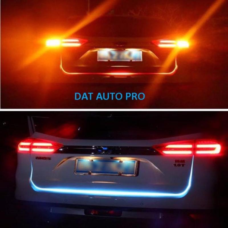 Đèn led trang trí viền cốp xe hơi 5 màu hiệu ứng đẹp mắt.