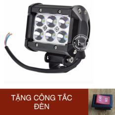 Đèn led trợ sáng C6 18w (sáng trắng) giá rẻ mua ở đây gương cầu Thanh Khang 002000038 + tặng công tắc on/off