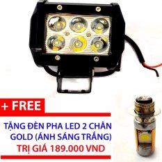Bán Đen Pha Led C6 Trợ Sang Gắn Xe May Đen Pha Led 2 Chan Gold Trong Hồ Chí Minh