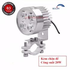 Giảm Giá Quá Đã Phải Mua Ngay Đèn Pha Trợ Sáng 4 LED Siêu Sáng Dành Cho Xe Mô Tô(Bạc)-Hàng Chính Hãng