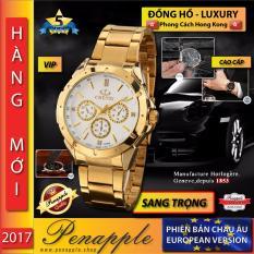 Mã Khuyến Mại Đồng Hồ Cao Cấp Nam Men S Luxury Watch Quartz Thiết Kế Tại Hong Kong Khong Thấm Nước Mau Vang Mặt Trắng Sản Xuất Tại Hồng Kong Hang Phan Phối Chinh Thức Rẻ