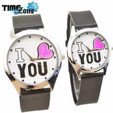 Ôn Tập Đồng Hồ Cặp Day Da Timezone I Love You Sieu Đẹp Newfashion 2018 Day Đen Mặt Trắng Trong Hồ Chí Minh
